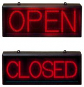Static Red LED Sign Open/closed